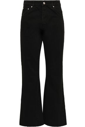 ANINE BING Frayed high-rise kick-flare jeans