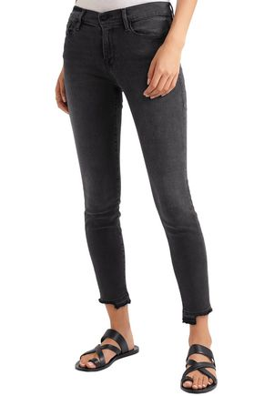 FRAME Cropped high-rise skinny jeans