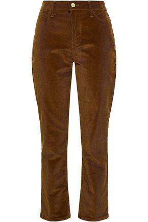 FRAME Le High cropped cotton-blend corduroy straight-leg pants