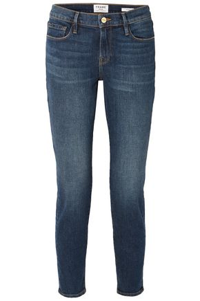FRAME Cropped mid-rise skinny jeans