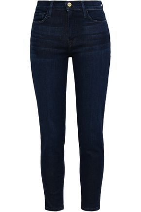 FRAME Le Skinny cropped mid-rise skinny jeans