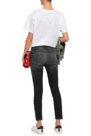 RAG & BONE Faded high-rise skinny jeans