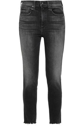 RAG & BONE Faded high-rise skinny jeans
