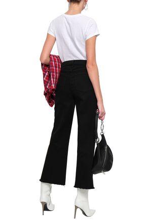 RAG & BONE Justine frayed cropped high-rise flared jeans