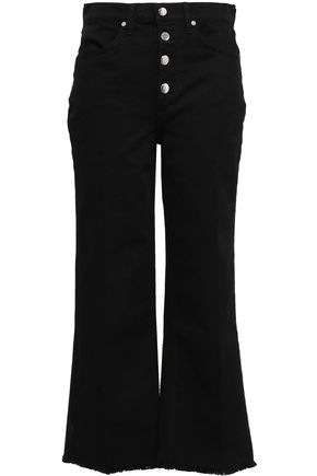 RAG & BONE Justine frayed cropped high-rise flared jeans