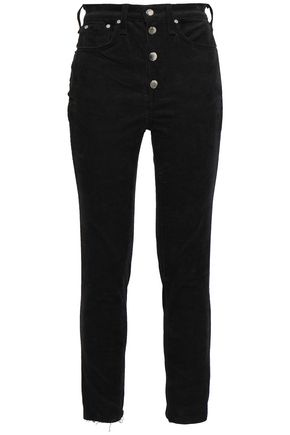 RAG & BONE Rosie button-detailed cotton-blend corduroy skinny pants