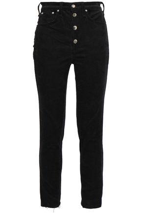 RAG & BONE Rosie button-detailed cotton-blend corduroy skinny pants