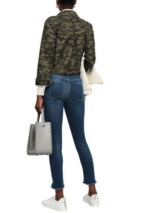 RAG & BONE Cropped frayed mid-rise straight-leg jeans
