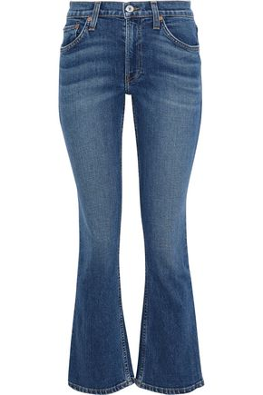 RE/DONE Mid-rise kick-flare jeans