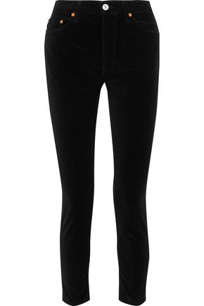 RE/DONE with LEVI'S Velvet skinny pants
