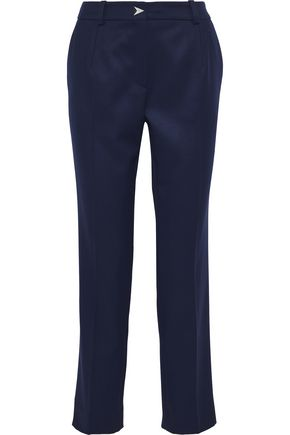 MUGLER Cropped wool-twill straight-leg pants