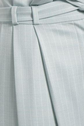 ZIMMERMANN Pinstriped piqué wide-leg pants