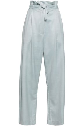 ZIMMERMANN Pinstriped piqué wide-leg pants