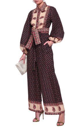 ZIMMERMANN Printed linen wide-leg pants