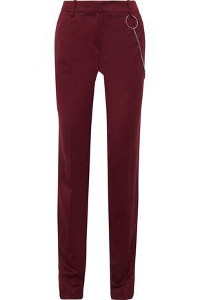MUGLER Embellished wool slim-leg pants