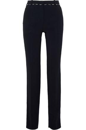 MUGLER Bead-embellished cady straight-leg pants