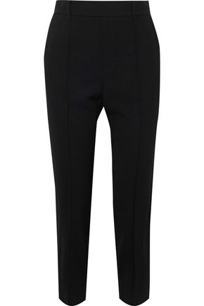 VINCE. Cropped crepe slim-leg pants