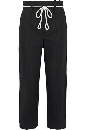 VINCE. Linen and cotton-blend twill straight-leg pants
