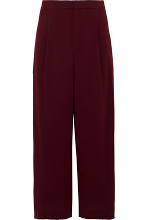 VINCE. Pleated crepe culottes