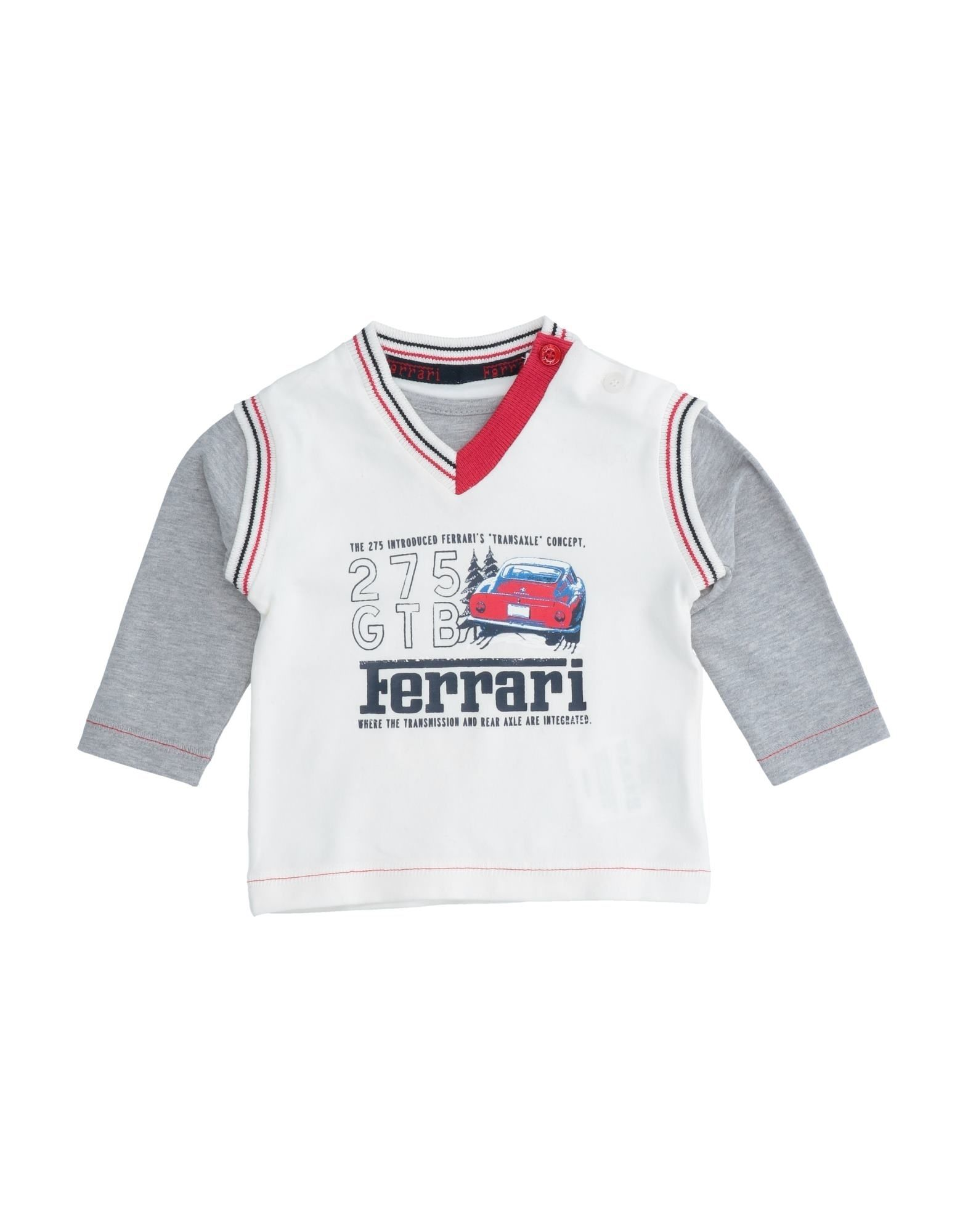 Ferrari Kids' T-shirts In White