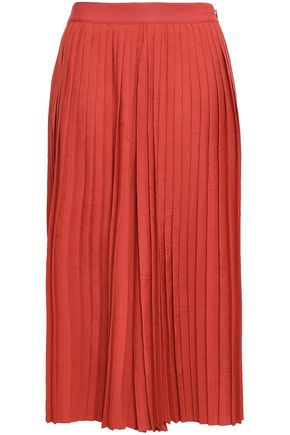 VINCE. Pleated crushed crepe de chine culottes