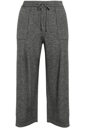 VINCE. Cropped wool and cashmere-blend wide-leg pants