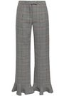 ROSIE ASSOULIN Fluted Prince of Wales checked straight-leg pants