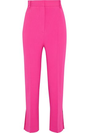 KHAITE Kyle cropped stretch-crepe straight-leg pants