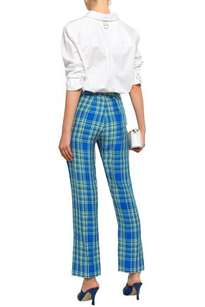 ROSIE ASSOULIN Checked bootcut pants