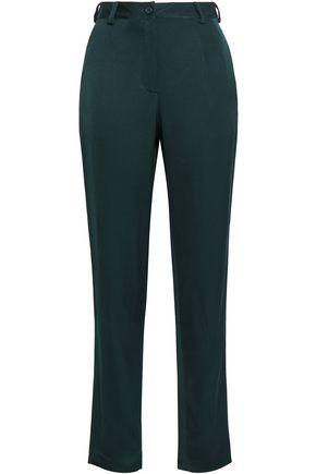 AMERICAN VINTAGE Satin-crepe tapered pants