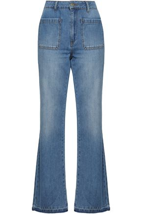 ANINE BING Faded high-rise flared jeans