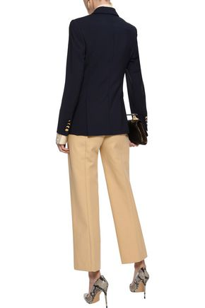 KHAITE Audrey cotton-twill straight-leg pants