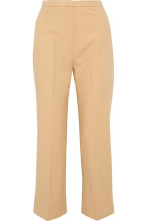 KHAITE Audrey cotton-twill straight-leg pants