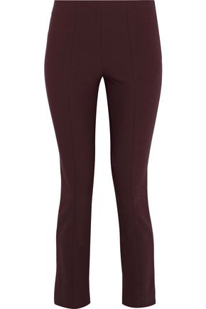 VINCE. Cropped stretch-cady skinny pants