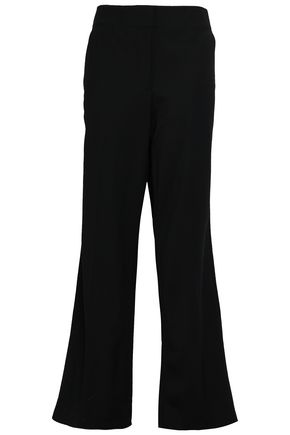 REBECCA TAYLOR Stretch-wool twill wide-leg pants