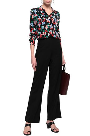 c769b835cba5c REBECCA TAYLOR Stretch-wool twill wide-leg pants