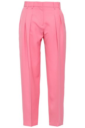 VICTORIA, VICTORIA BECKHAM Pleated wool-twill wide-leg pants