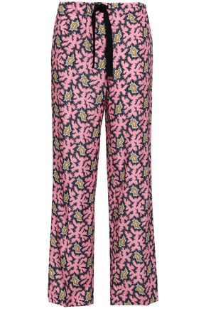 VICTORIA, VICTORIA BECKHAM Printed woven straight-leg pants