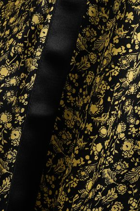 VICTORIA, VICTORIA BECKHAM Floral-print silk-satin wide-leg pants