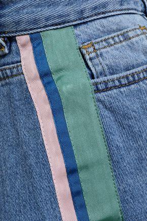 VICTORIA, VICTORIA BECKHAM Faded high-rise straight-leg jeans