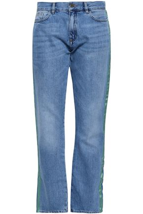 VICTORIA, VICTORIA BECKHAM Faded high-rise straight-leg jeans