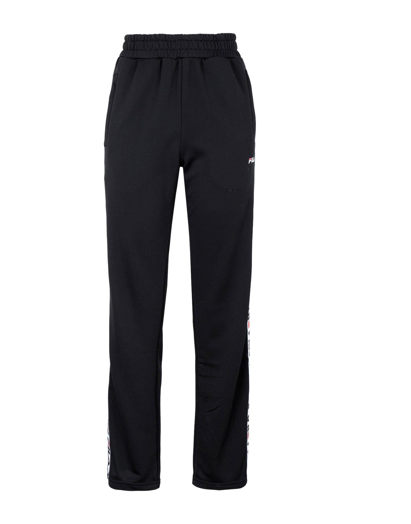 《送料無料》FILA HERITAGE レディース パンツ ブラック XS ポリエステル 100% THORA track pants