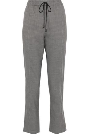 REBECCA MINKOFF Nora houndstooth cady straight-leg pants