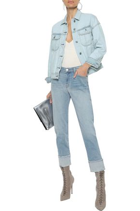 J BRAND Sadey Slim Straight cropped mid-rise straight-leg jeans