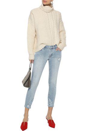 J BRAND Charisma Destruct distressed low-rise skinny jeans