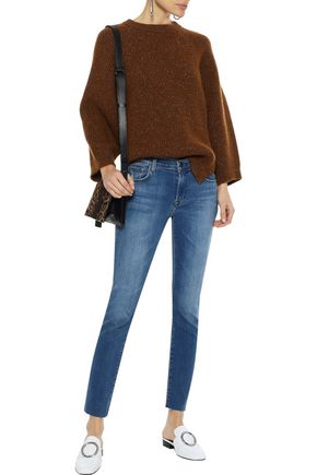 J BRAND Icon distressed mid-rise skinny jeans