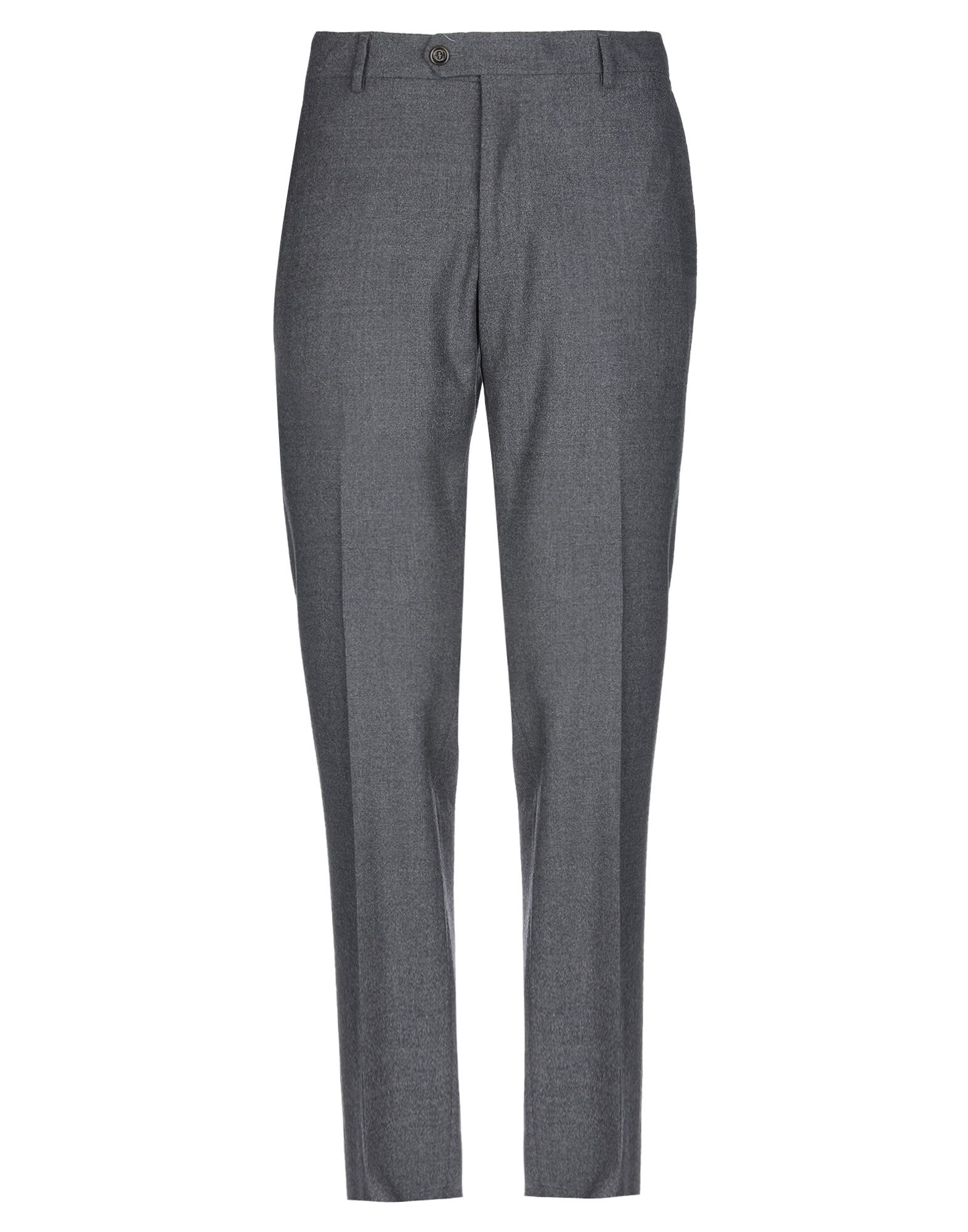 ELEVENTY Casual pants. flannel, logo, solid color, mid rise, slim fit, tapered leg, button, zip, multipockets, stretch. 96% Wool, 4% Elastane, Polyester, Cotton