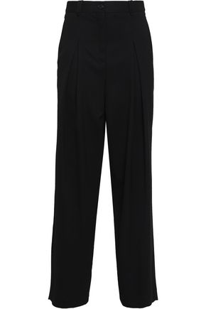 McQ Alexander McQueen Pleated twill wide-leg pants