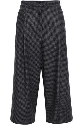 McQ Alexander McQueen Houndstooth and Prince of Wales checked wool culottes