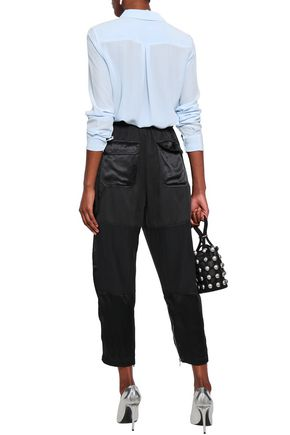3.1 PHILLIP LIM Belted Tencel and cotton-blend twill straight-leg pants